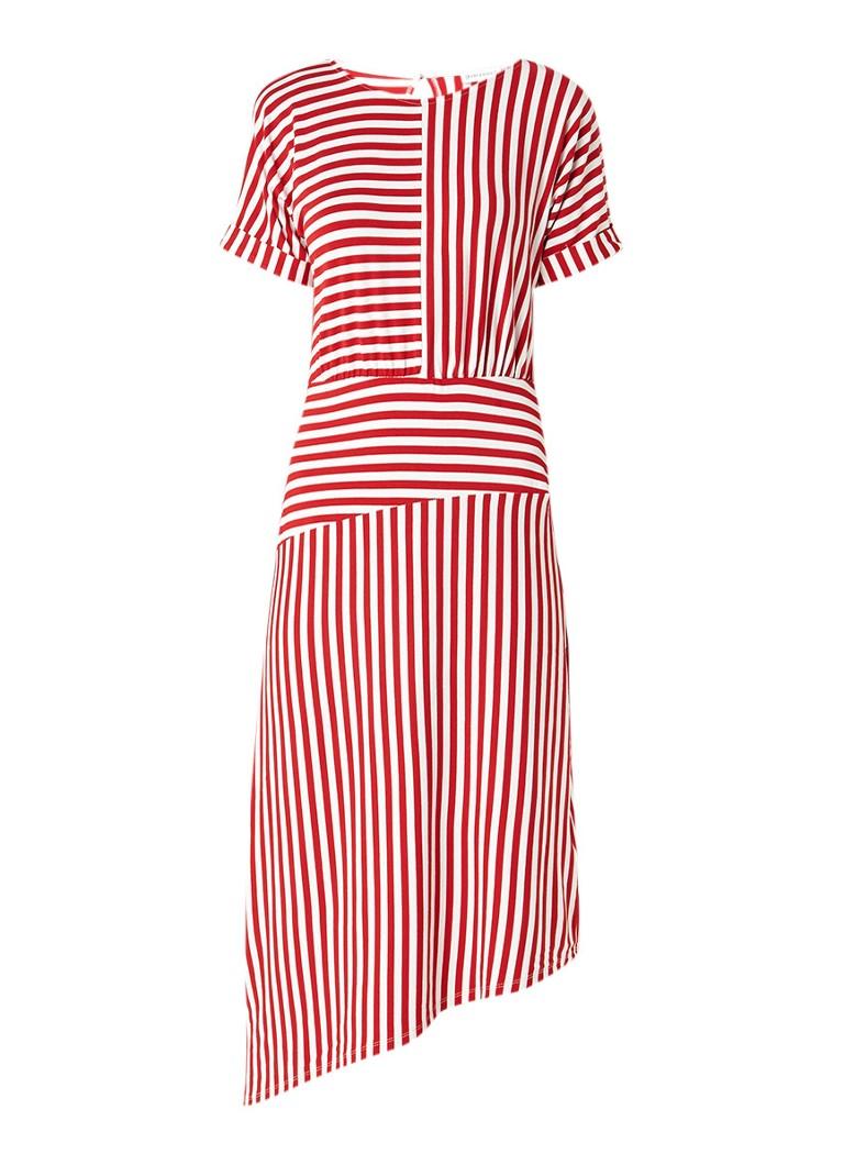 Warehouse Maxi-jurk van jersey met streepdessin rood
