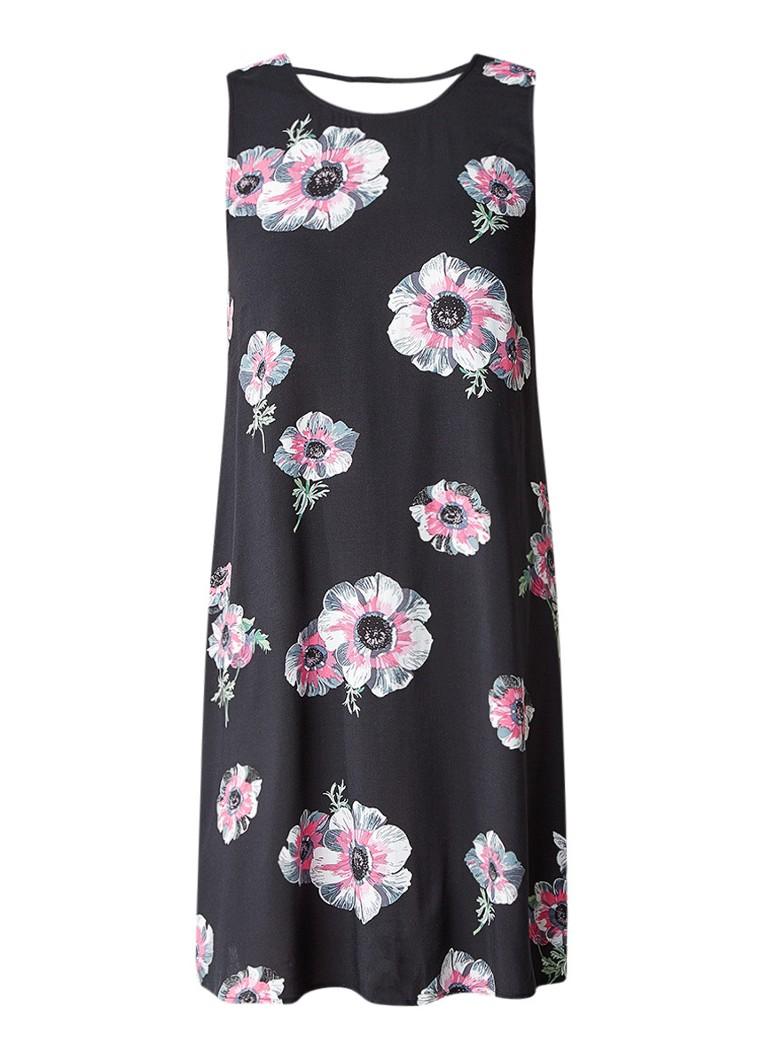 Warehouse A-lijn jurk met bloemendessin zwart