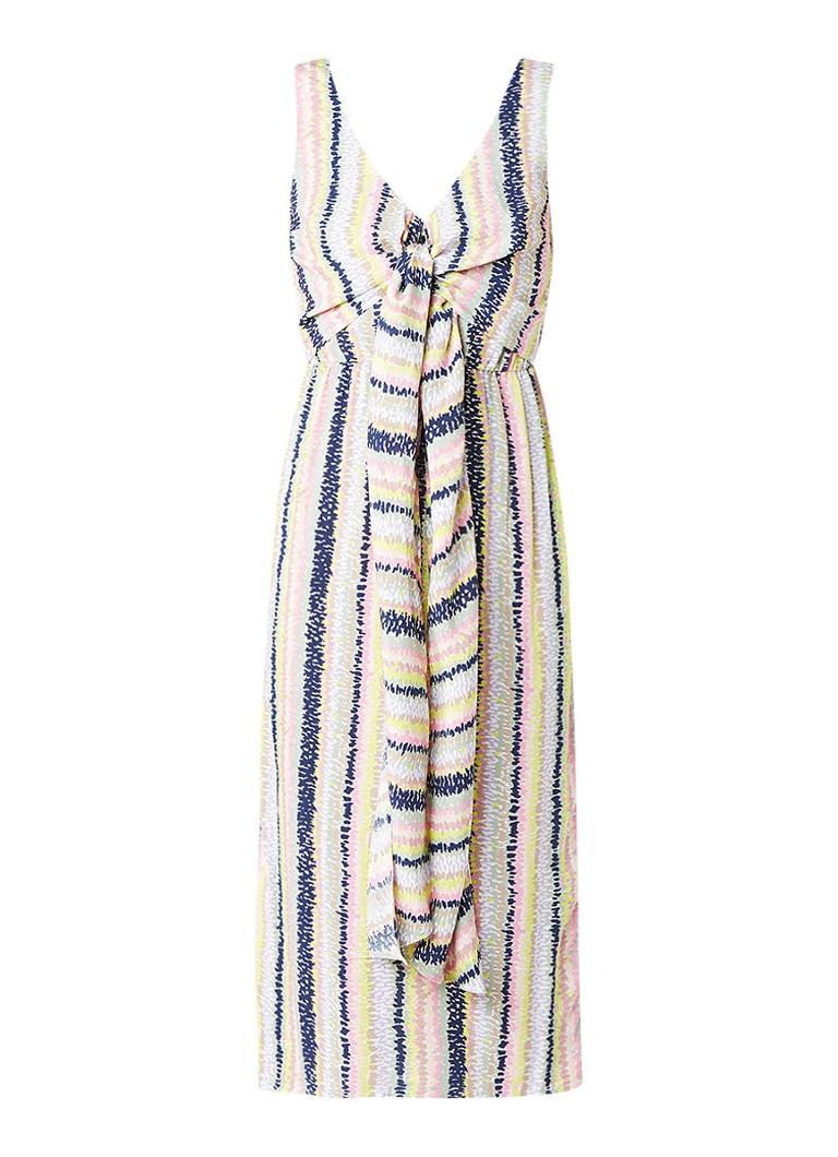 Warehouse Dash midi-jurk met abstract streepdessin multicolor