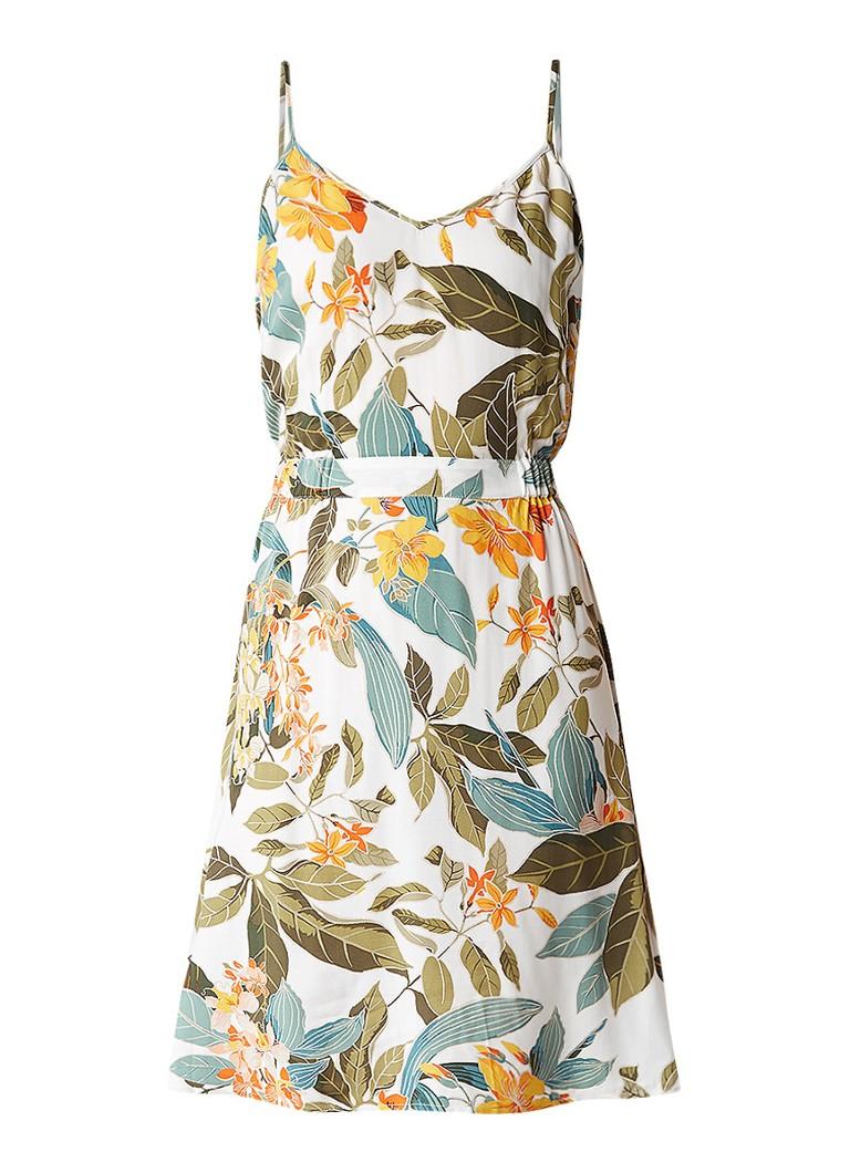 Warehouse Tropical Garden A-lijn jurk met bloemendessin groen