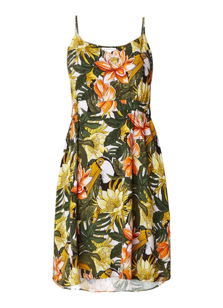 Warehouse Cami mini-jurk met bloemendessin groen