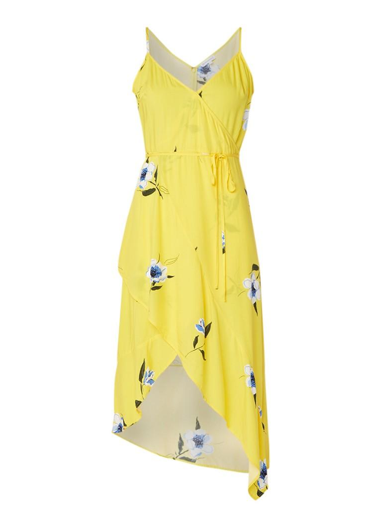 Warehouse Buttercup wikkeljurk met bloemendessin geel