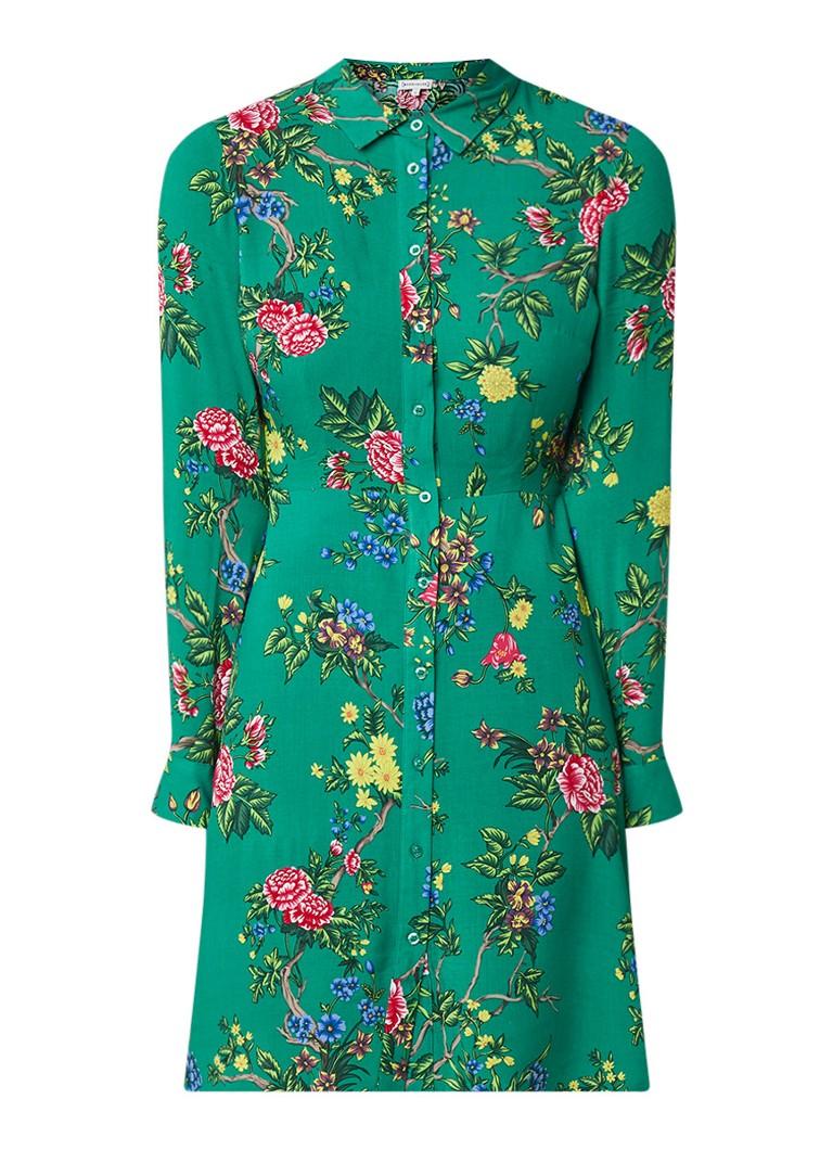 Warehouse Verity blousejurk met bloemendessin groen