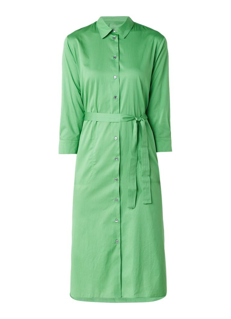 Turnover Vivid blousejurk van katoen met tailleceintuur groen