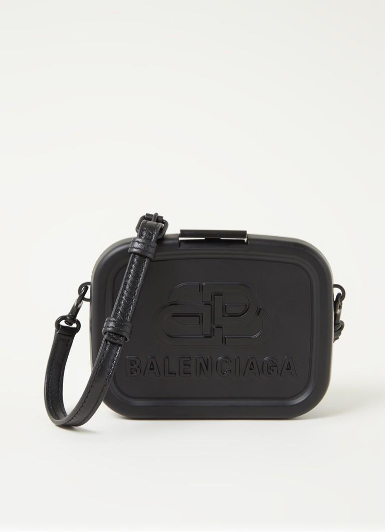 Lunch Box Mini crossbodytas met lamsleren details
