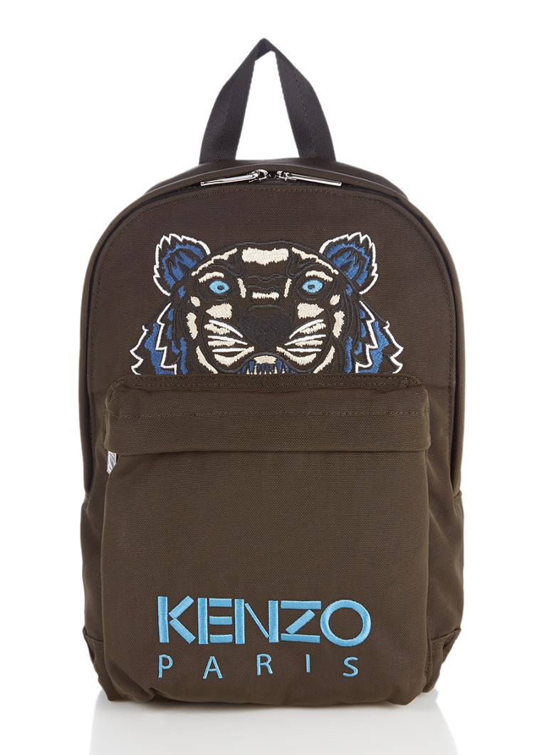 KENZO Tiger Medium rugtas met logoborduring