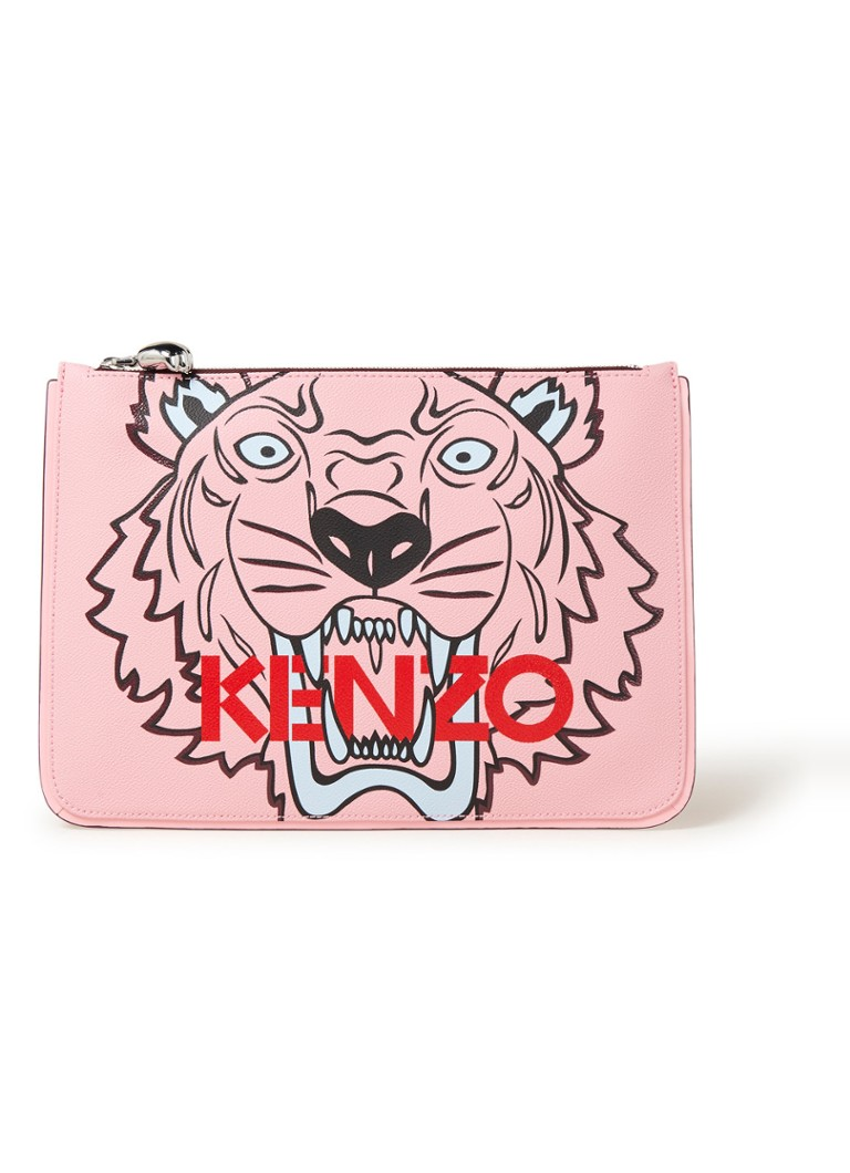 Image of KENZO A4 Tiger Icon clutch met dessin