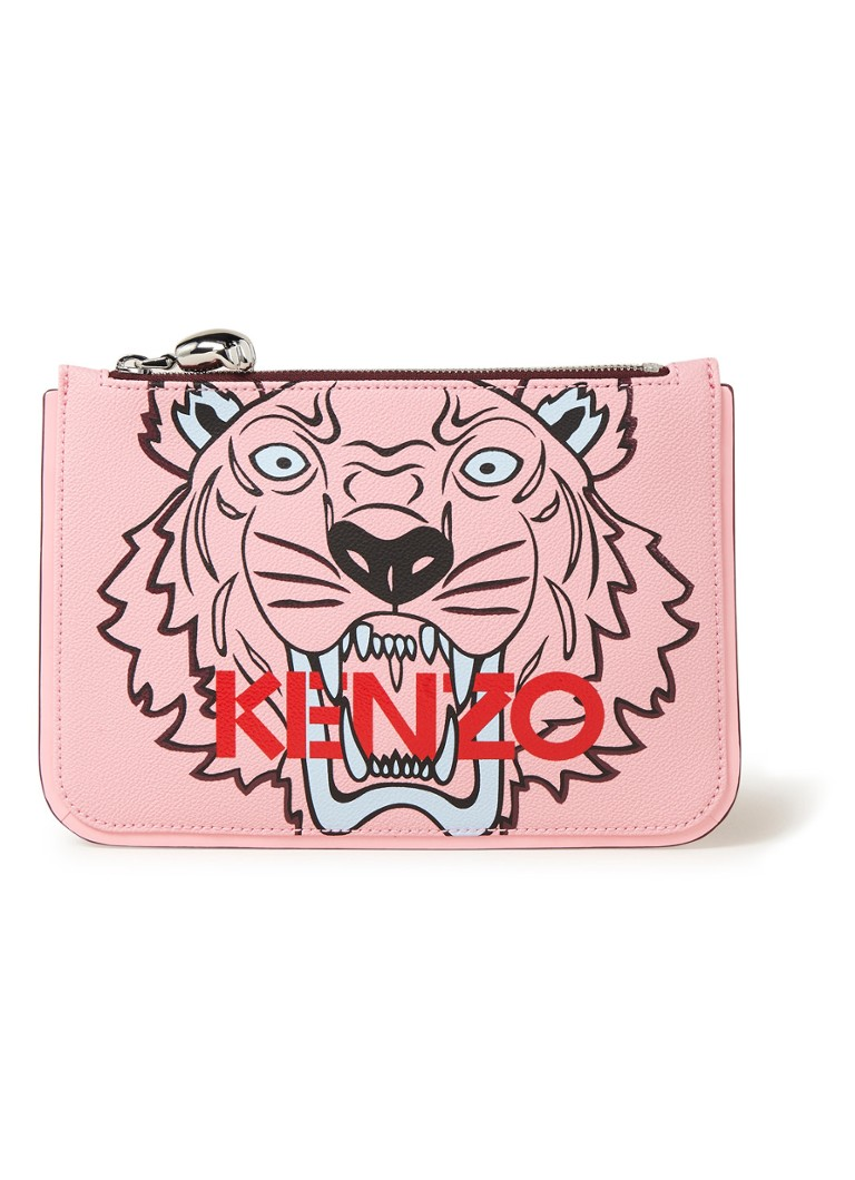 Image of KENZO A5 Tiger Icon clutch met dessin