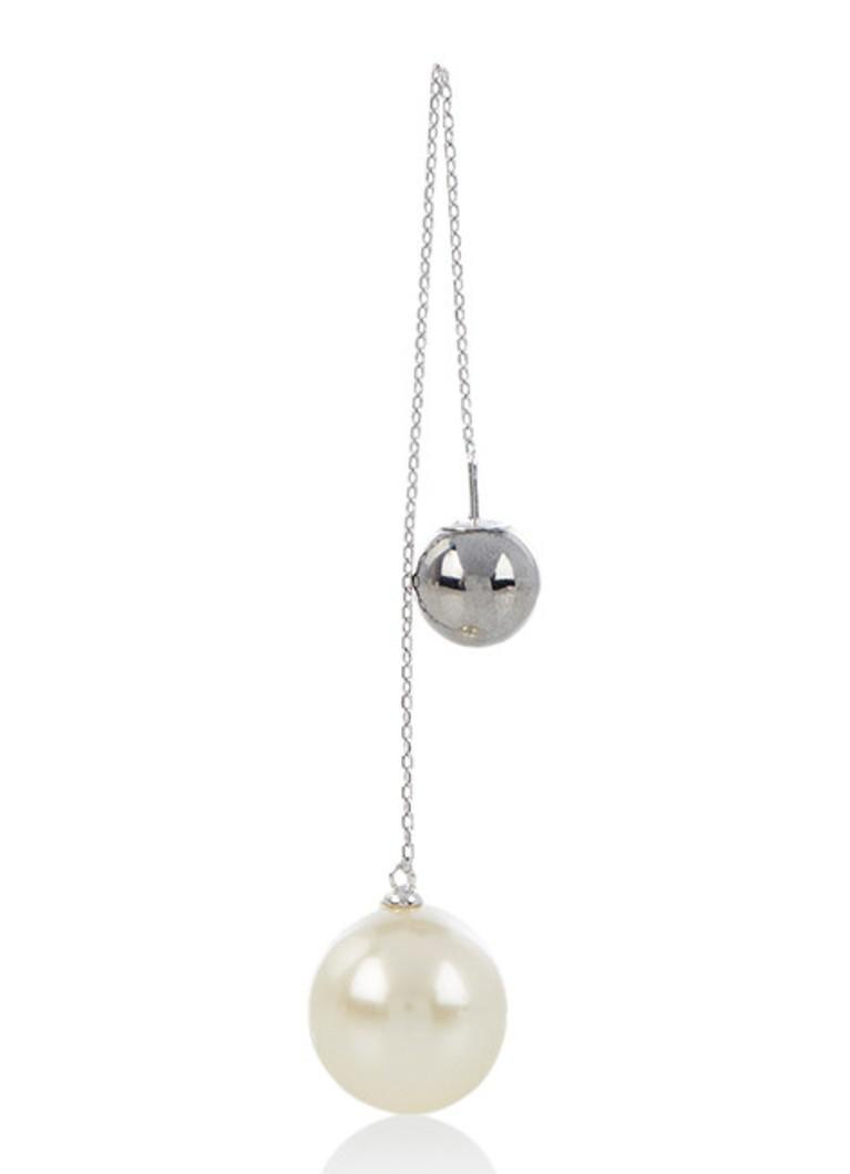 Marc Jacobs Pearl Drop enkele oorhanger van zilver M0013522
