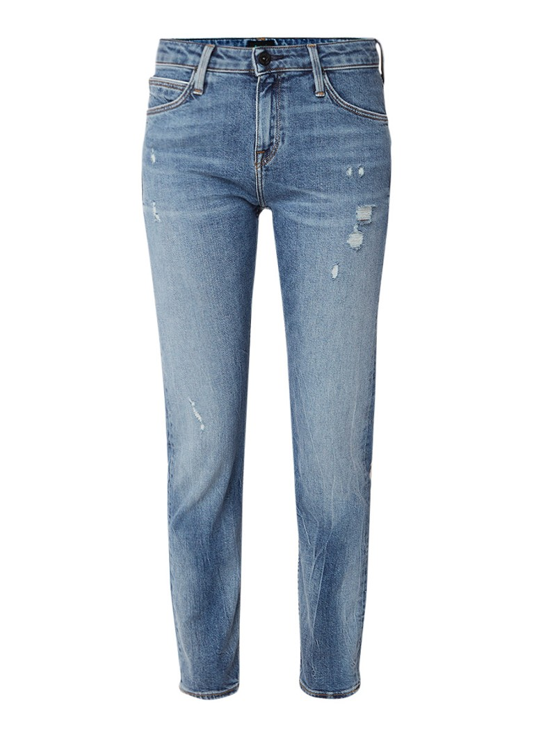 Lee Elly mid rise slim-straight fit jeans met selvedge