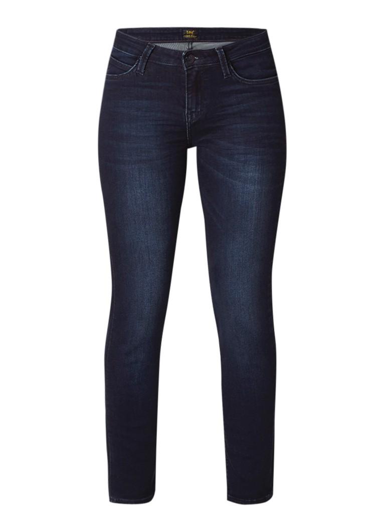 Lee Elly high rise slim-straight fit jeans met faded look