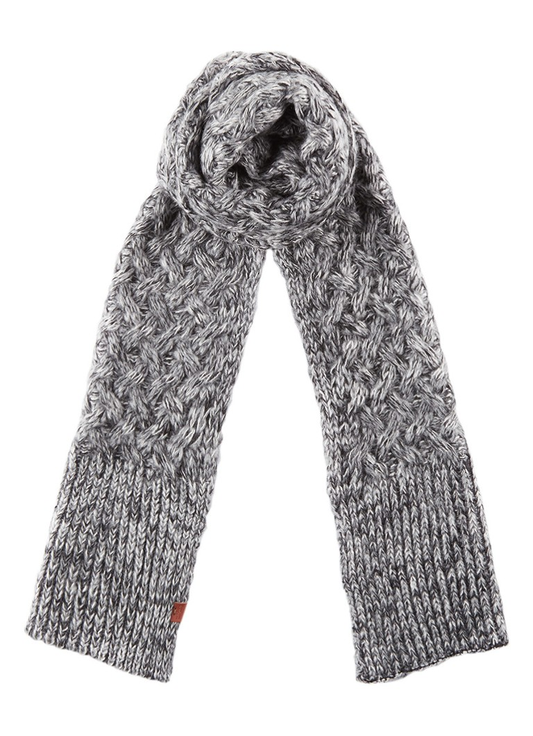 Sjaals Bickley + Mitchell Sjaal gemêleerd 200 x 35 cm Grijsmele