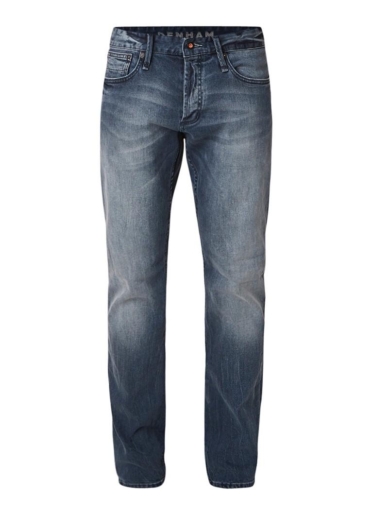 Denham Hammer Everest straight fit jeans met faded look