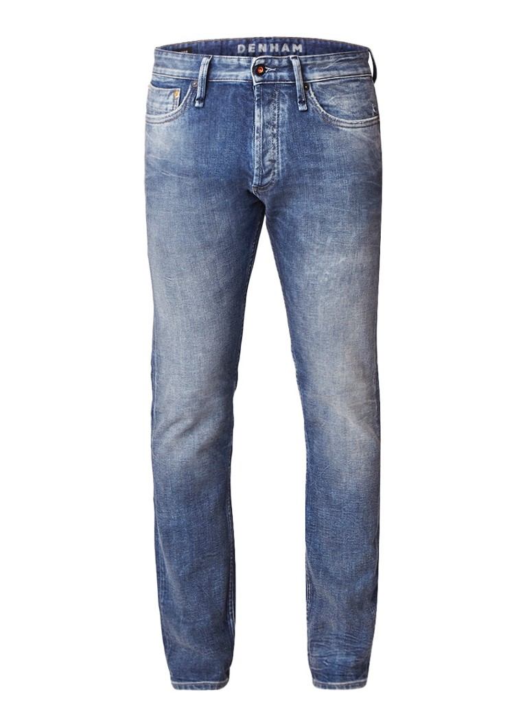 Denham Razor mid rise slim fit faded jeans