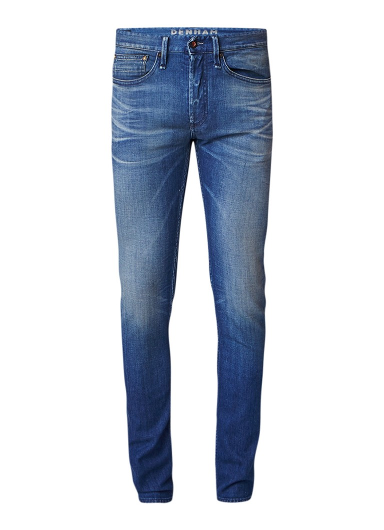 Denham Bolt mid rise skinny fit jeans met faded look