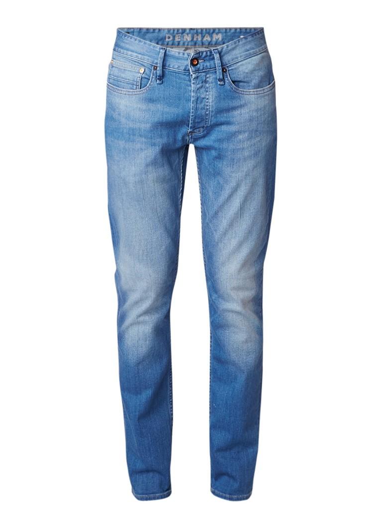 Denham Razor mid rise slim fit jeans met verwassen afwerking