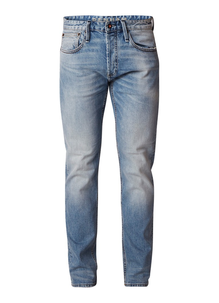Denham Razor mid rise slim fit jeans met faded look