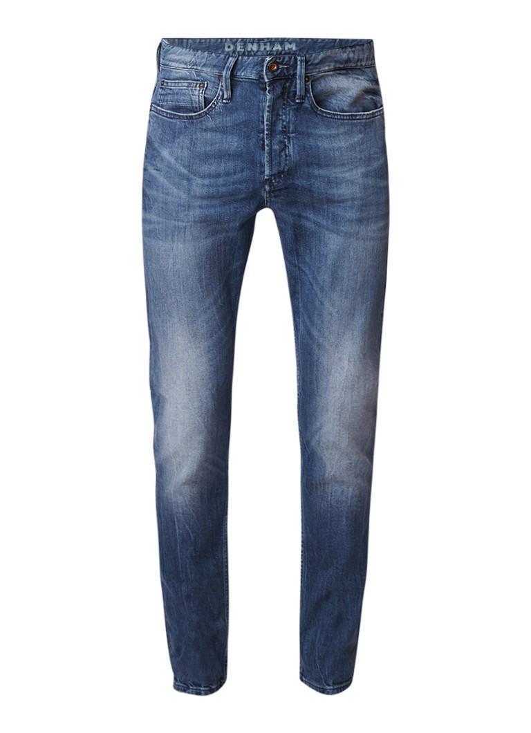 Denham Bolt skinny fit mid rise jeans met stretch