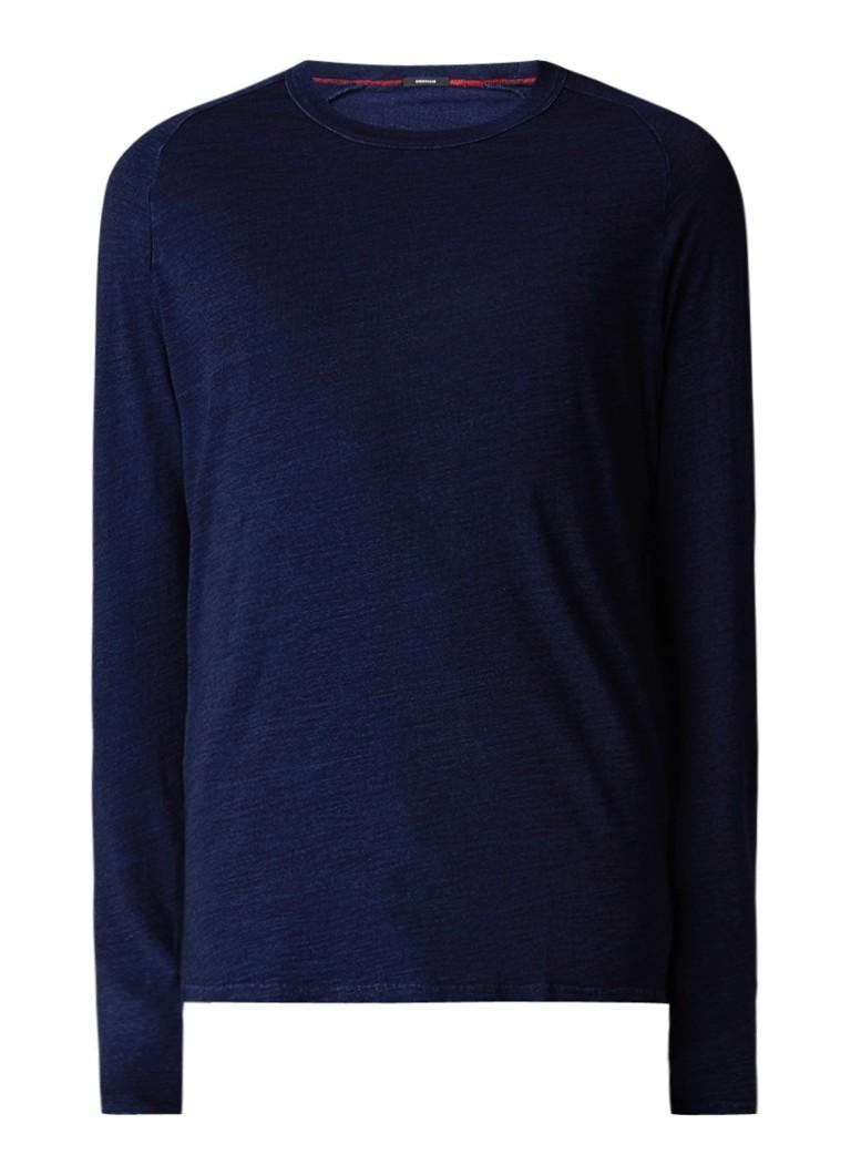 Denham Hue longsleeve met indigo garment dye