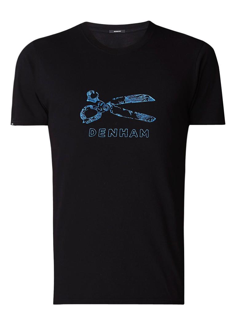 Denham Fuse T-shirt met borduring