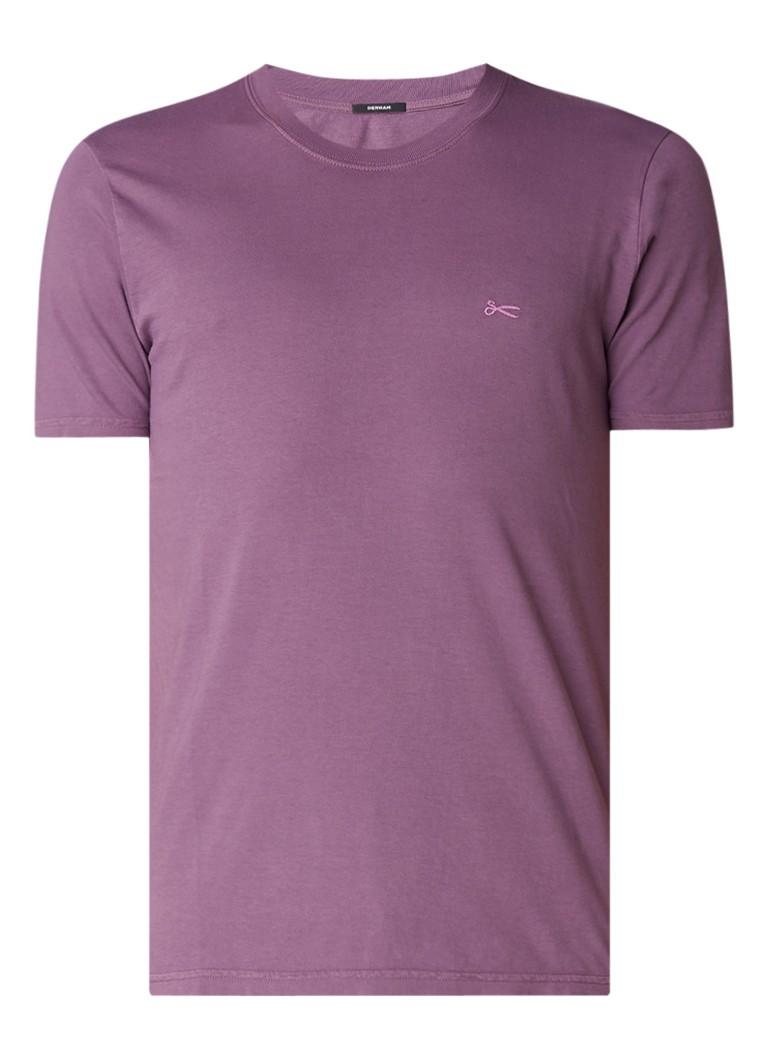Denham Crew T-shirt MOJD van katoen met ronde hals