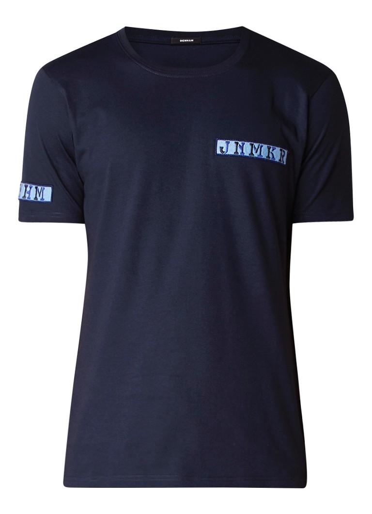 Denham T-shirt met tekst op patch