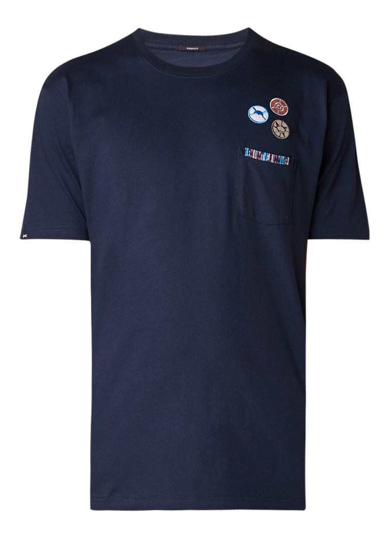 Denham Honour T-shirt met applicaties