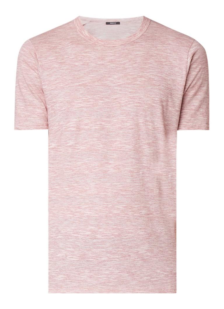 Denham T-shirt met ronde hals en streepdessin
