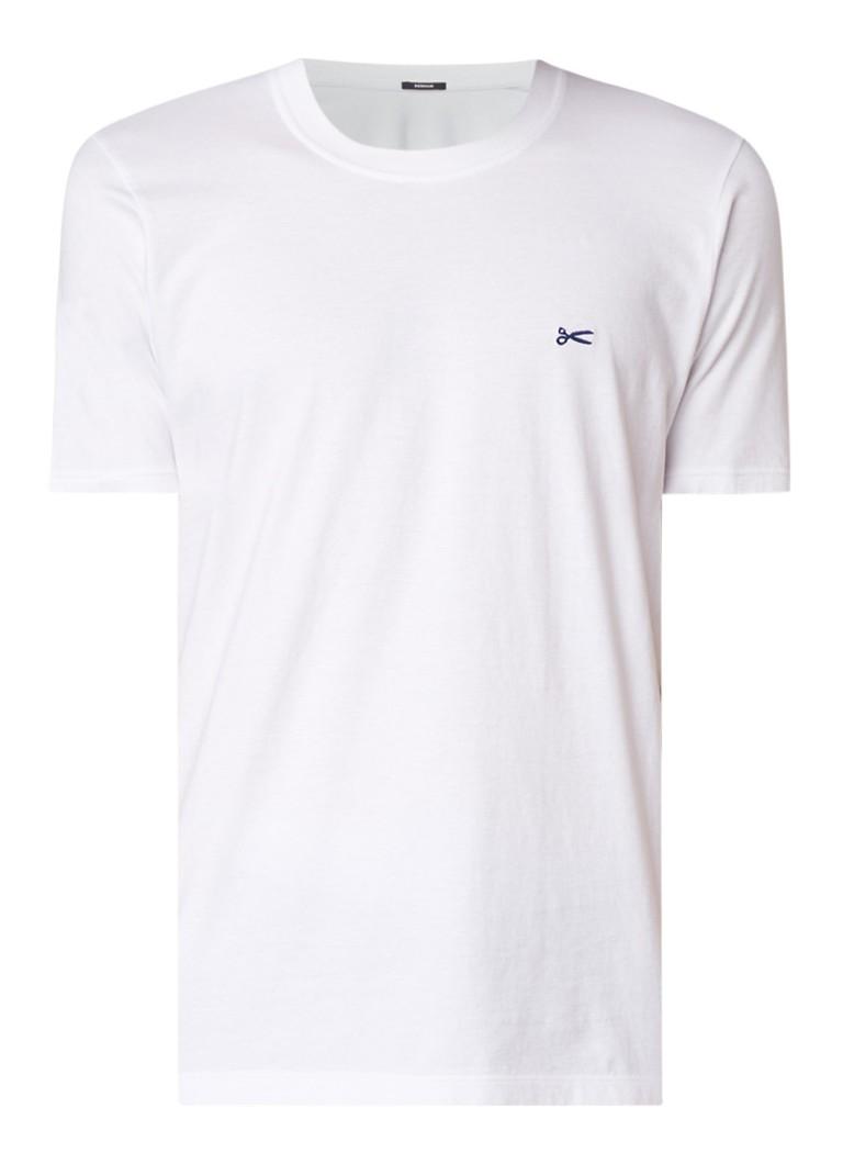 Denham Crew T-shirt van katoen met logo opdruk