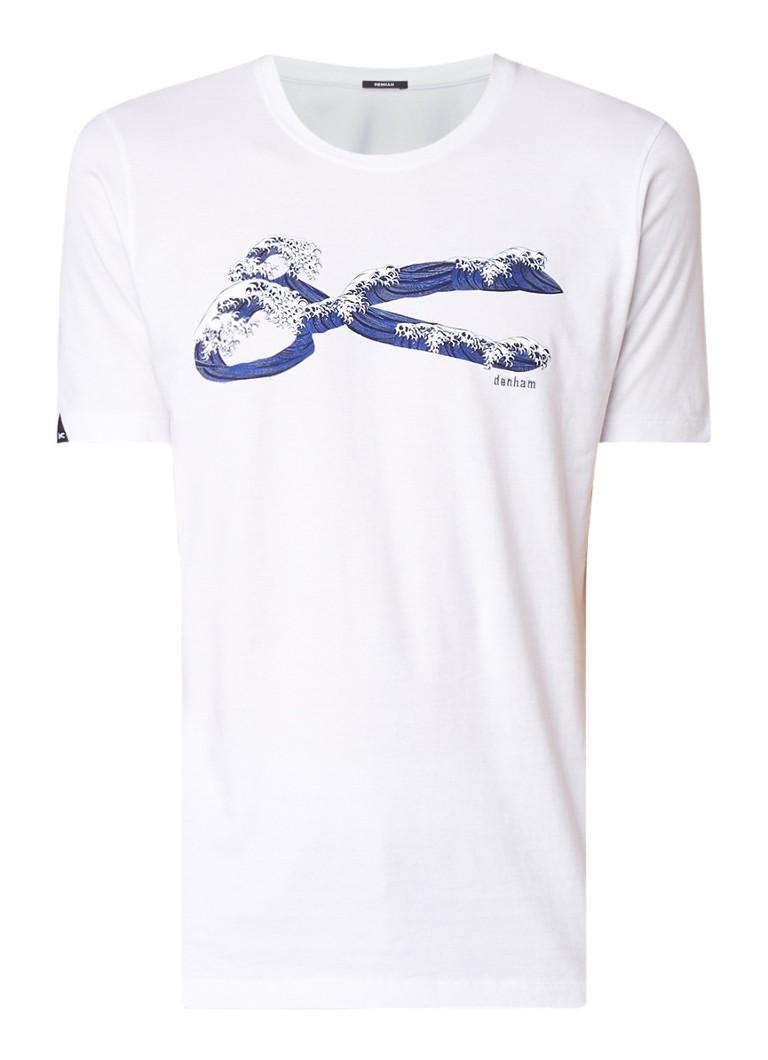 Denham Wave T-shirt met frontprint