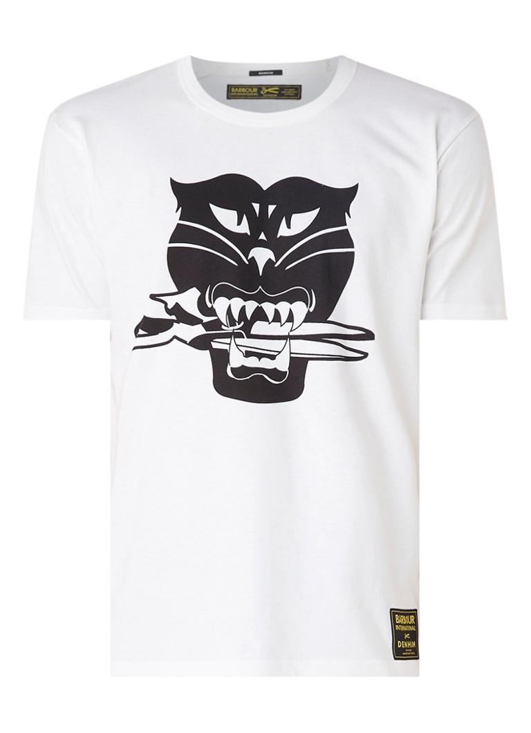 Denham Black Cat T-shirt met frontprint