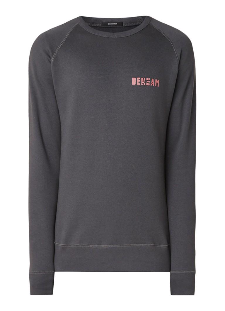 Denham Crest sweater met logo