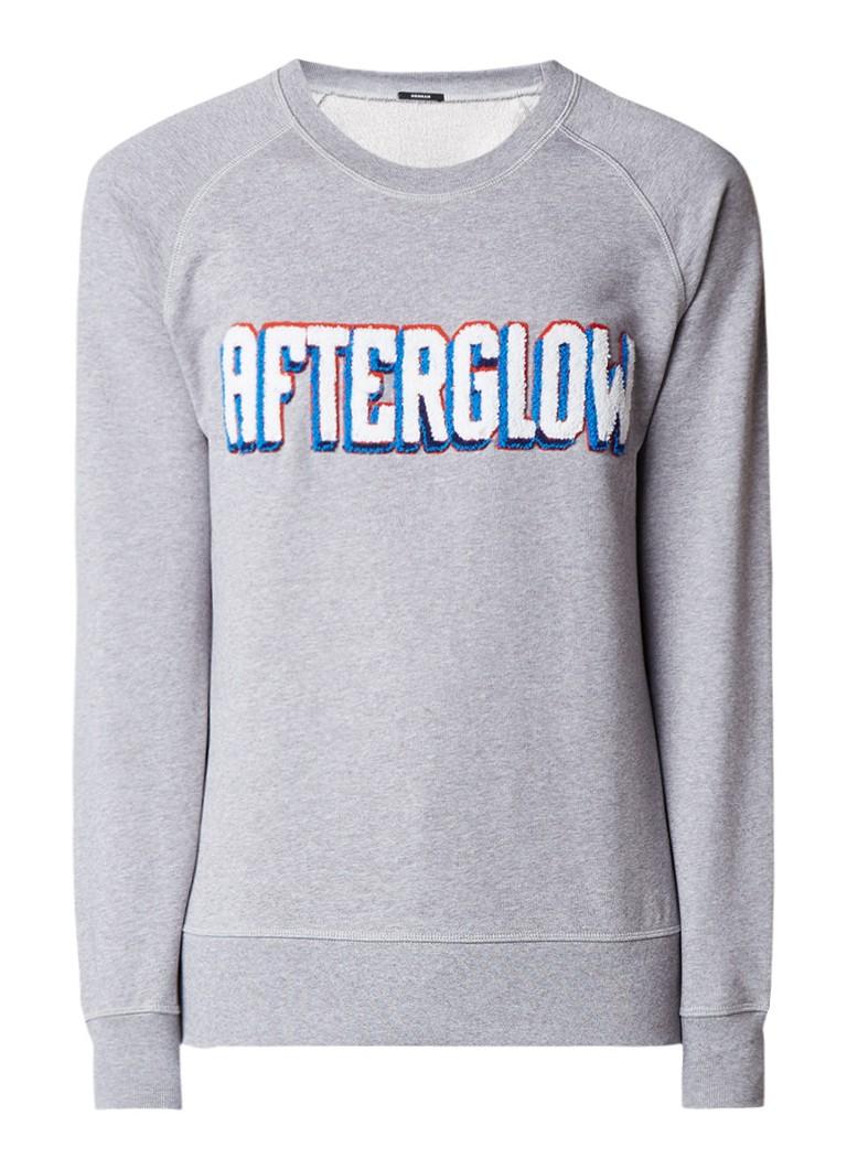 Denham Afterglow sweater met applicatie