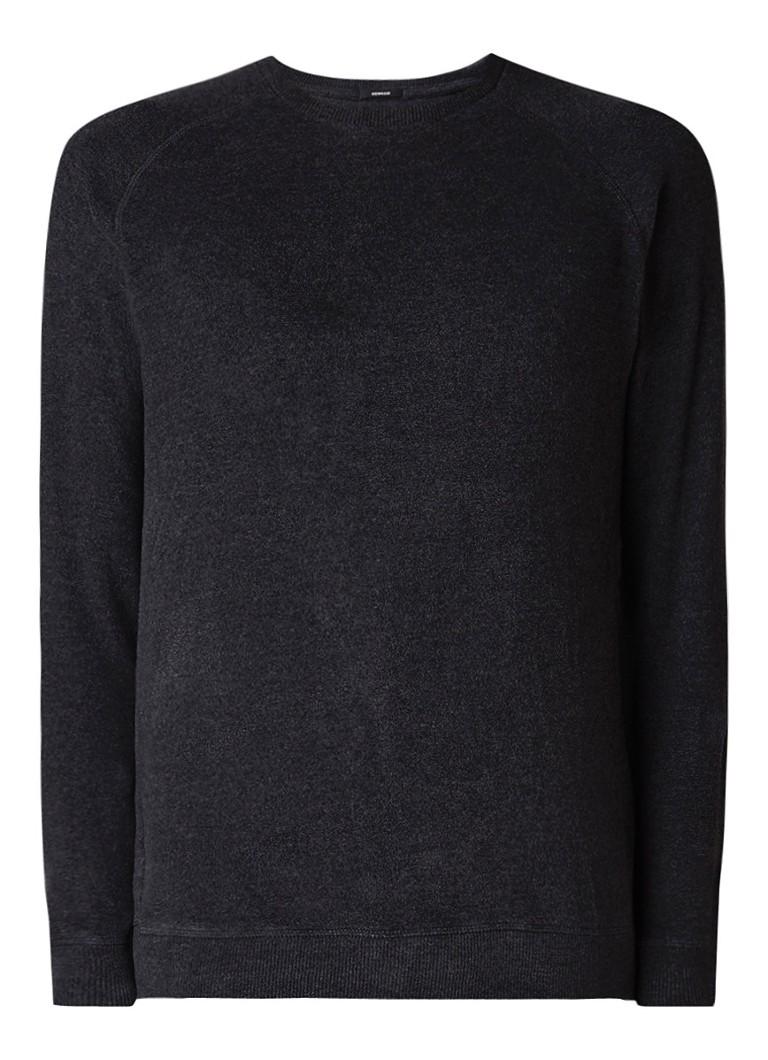 Denham Sweater met raglanmouw en brushed finish