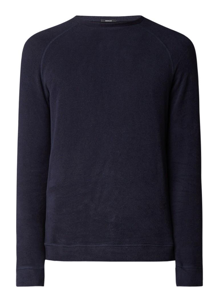 Denham Sweater met raglanmouw van lichtgewicht fleece