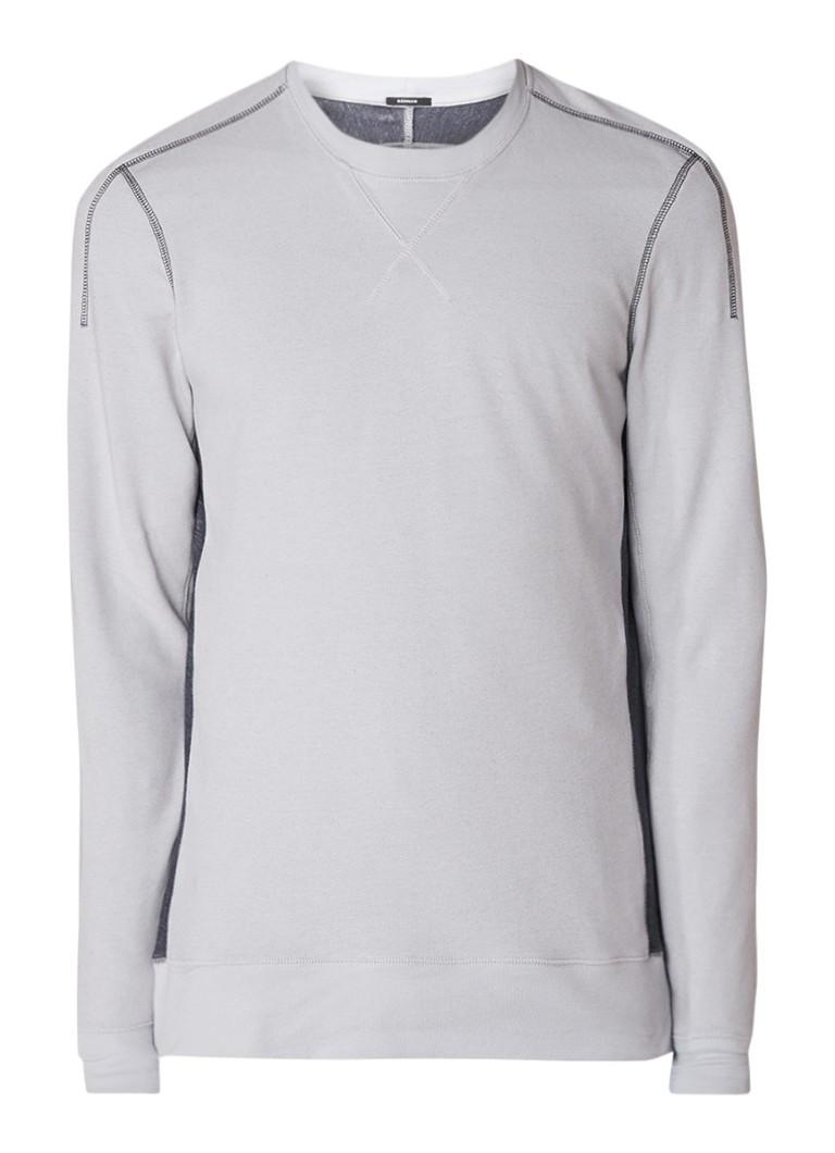 Denham Wai sweater met contrasterend achterpand