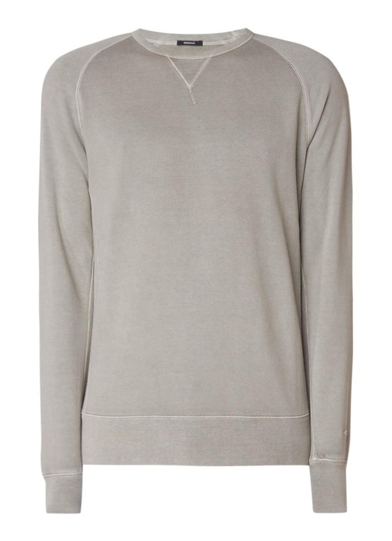 Denham Crew sweater PRSD van katoen met raglanmouw