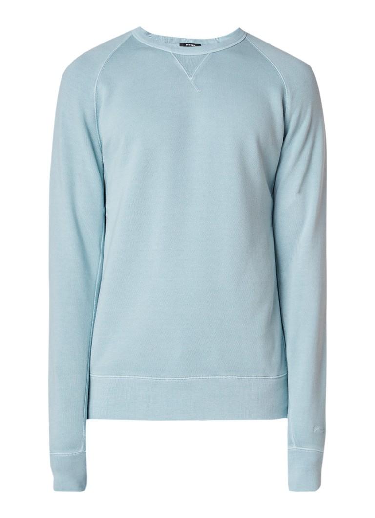 Denham Sweater met raglanmouw en faded finish