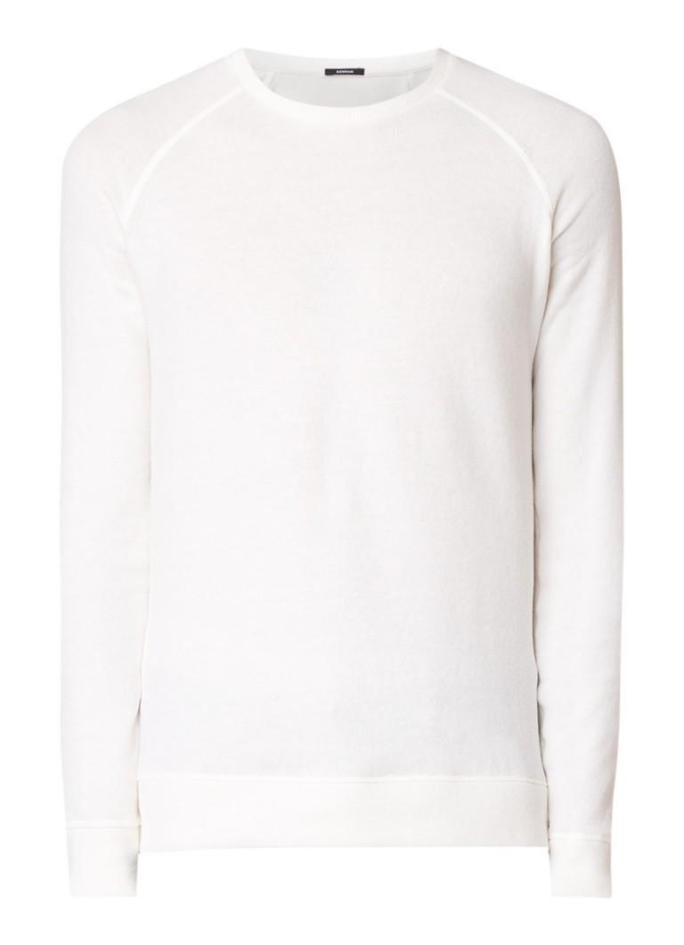 Denham Sweater in katoenblend met raglanmouw
