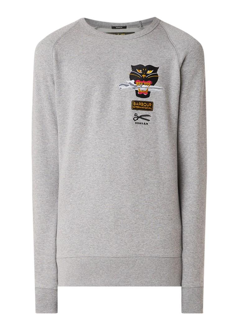 Denham Barbour Black Cat sweater met borduring