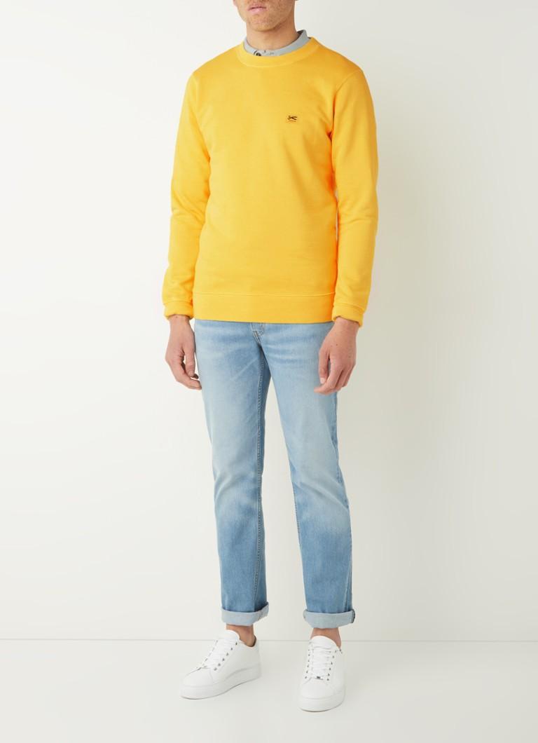 Denham Sweater van biologisch katoen met logoborduring