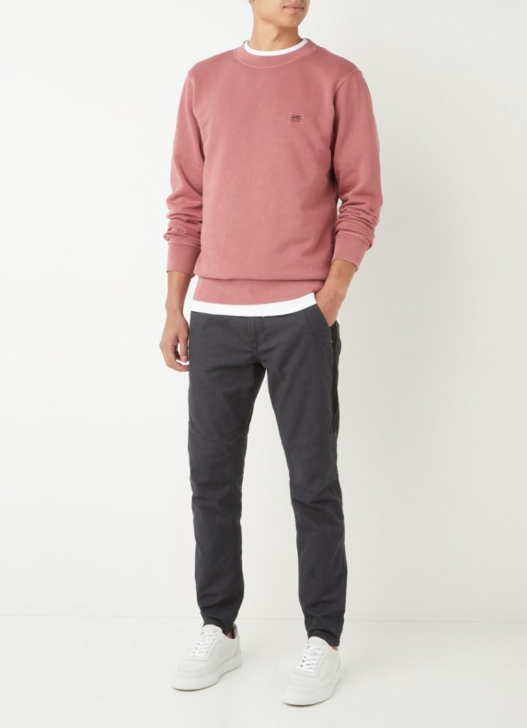 Denham Applique sweater van biologisch katoen met logo