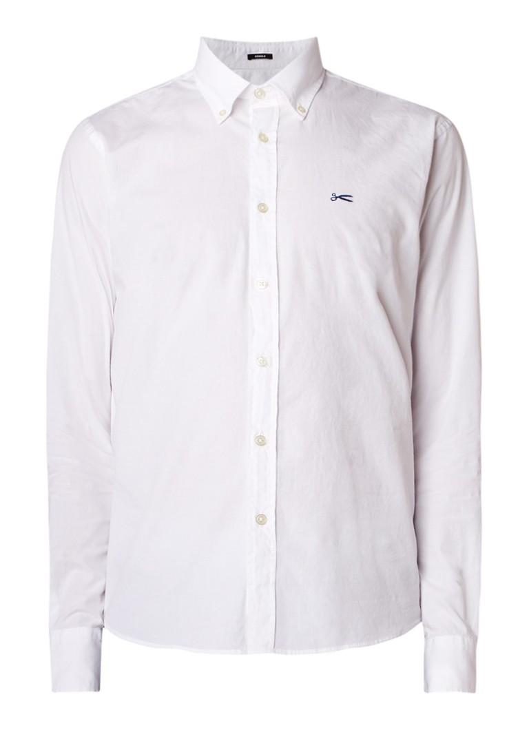 Denham Wright regular fit button down-overhemd