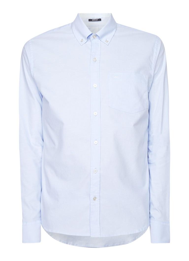 Denham Regular fit overhemd van stretchkatoen met borstzak