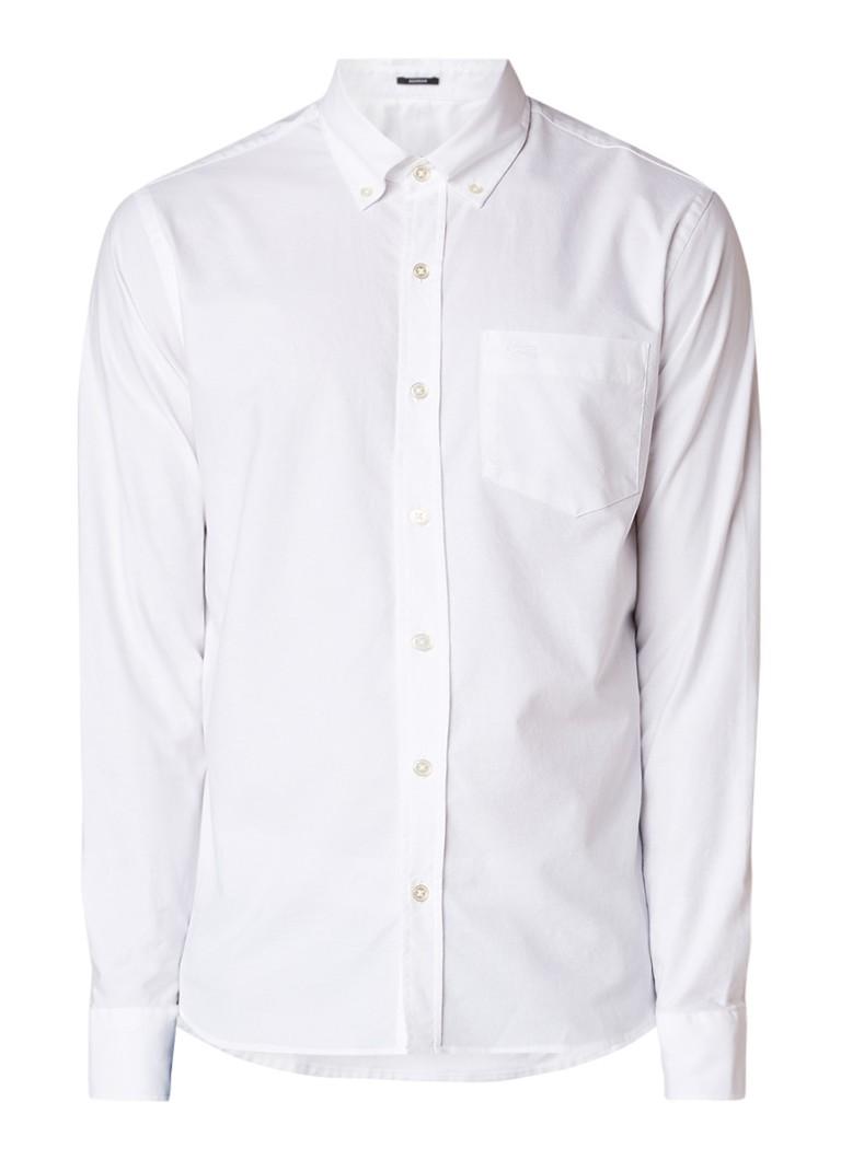 Denham Regular fit button down-overhemd met stretch