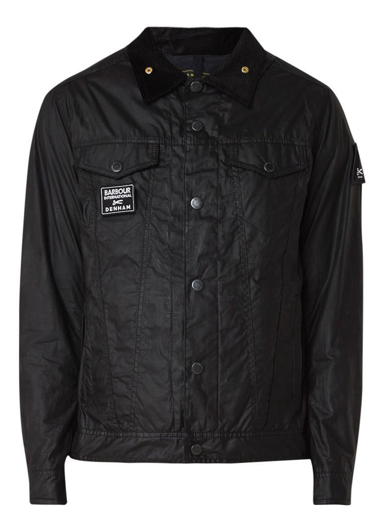 Denham Barbour South Jacket kort jack van gewaxt katoen