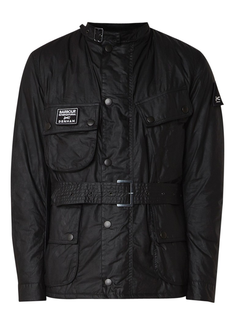 Denham Barbour shield jacket met waterbestendige coating