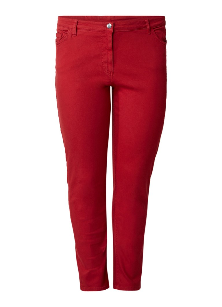 Marina Rinaldi Imelde high rise slim fit cropped jeans met stretch