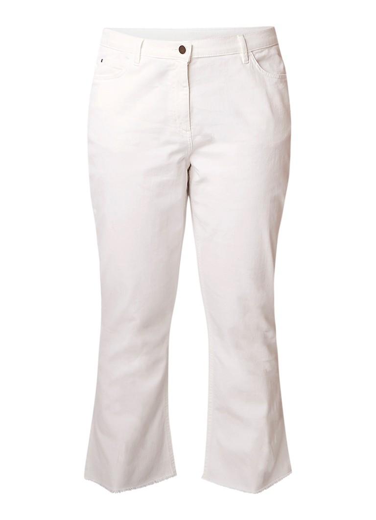 Marina Rinaldi High rise cropped jeans met gerafelde zoom