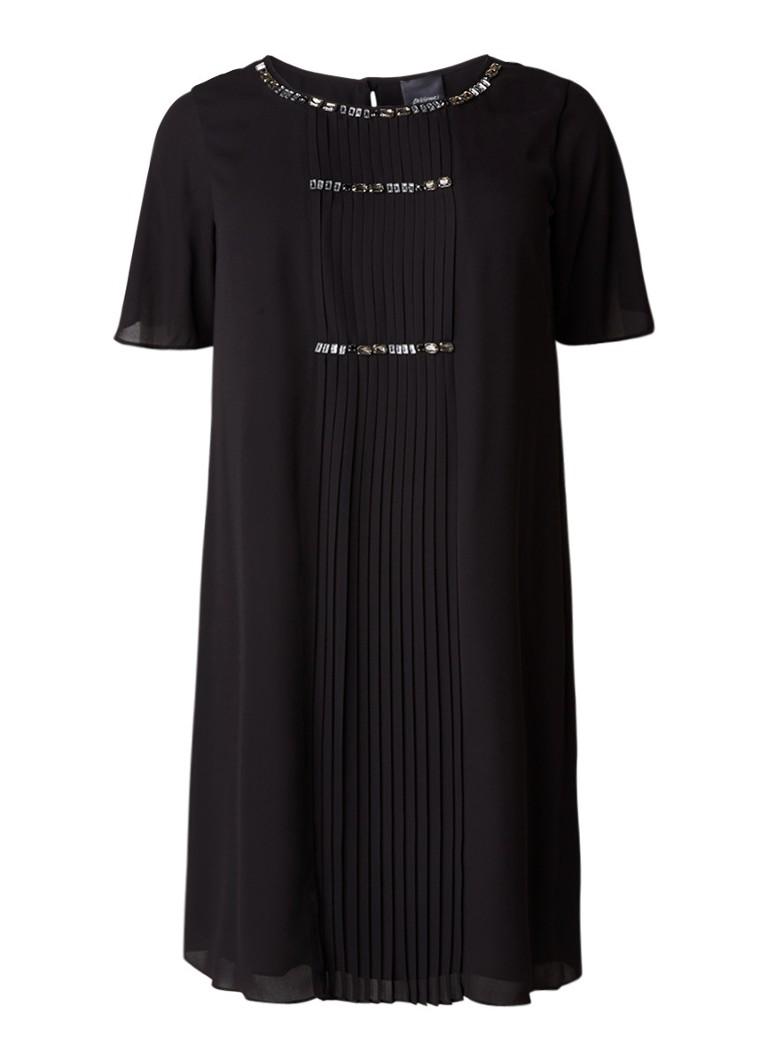 Marina Rinaldi Danza tuniekjurk met strass en optionele mouw zwart